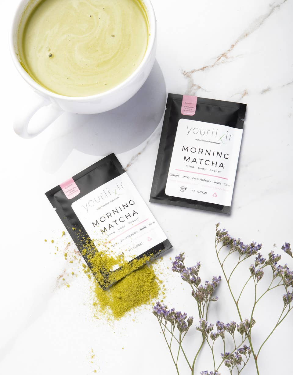 Collagen & Probiotic Matcha Latte Sachets   Trada Marketplace