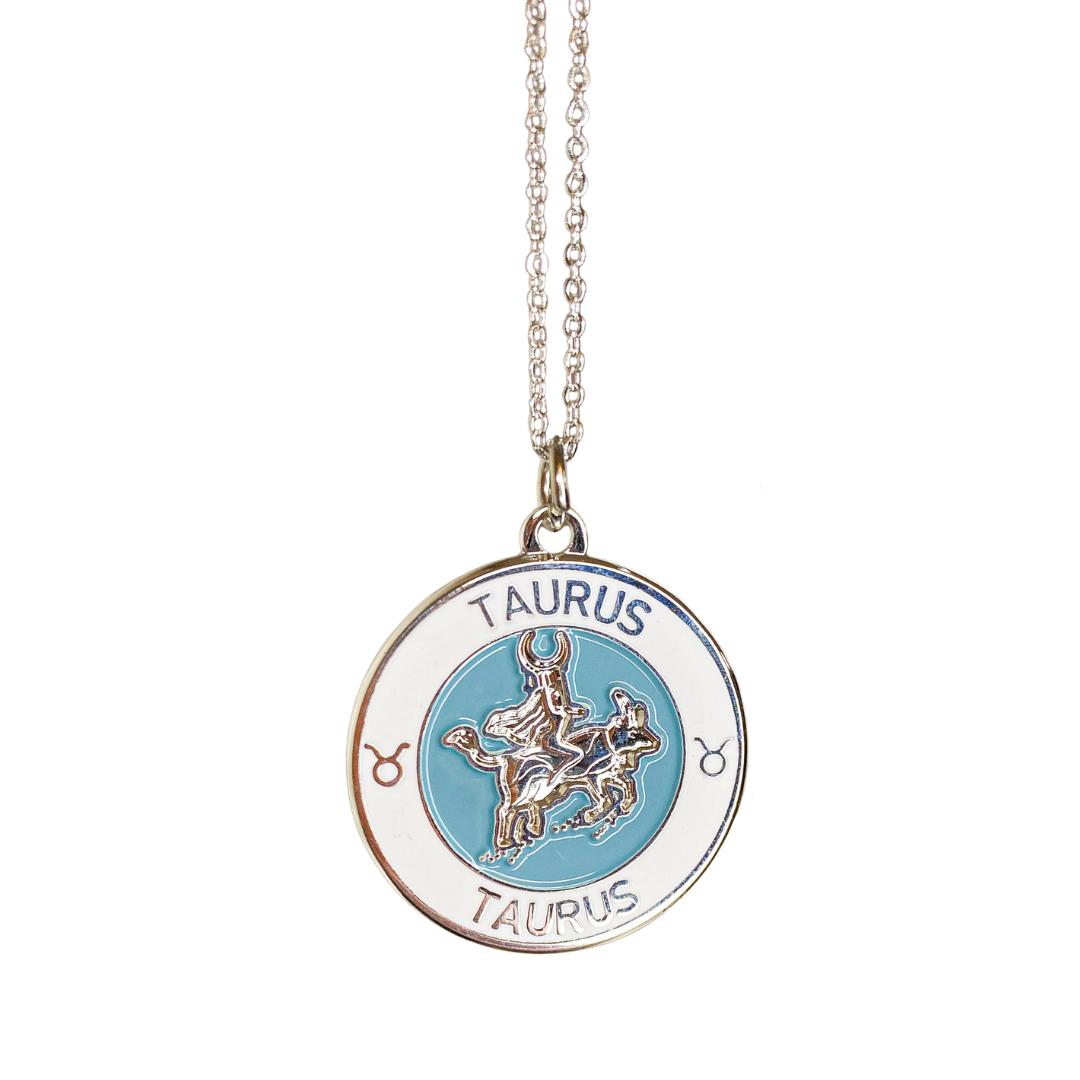 Taurus Enamel Zodiac Pendant   Trada Marketplace