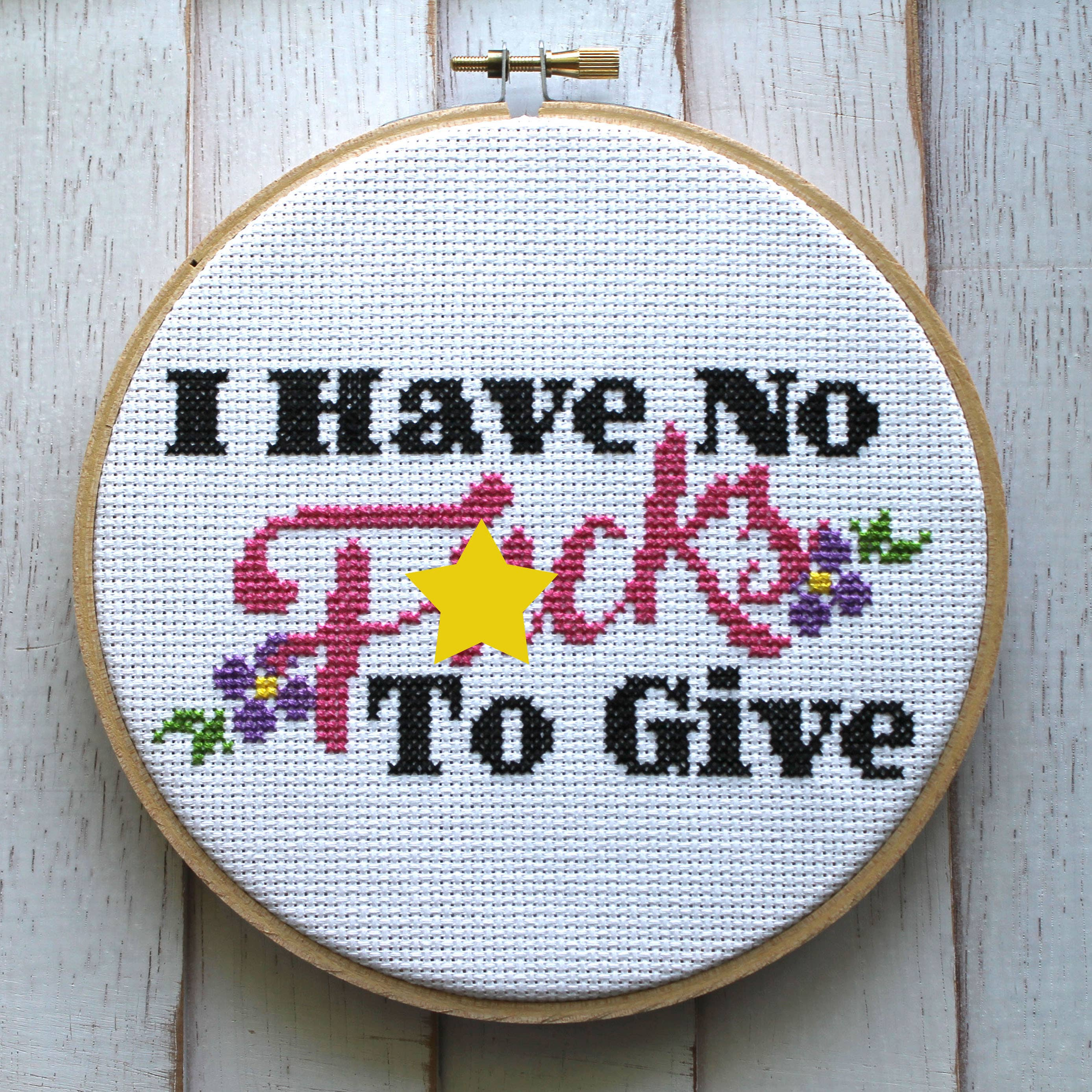 I Have No Fucks Cross Stitch Kit   Trada Marketplace