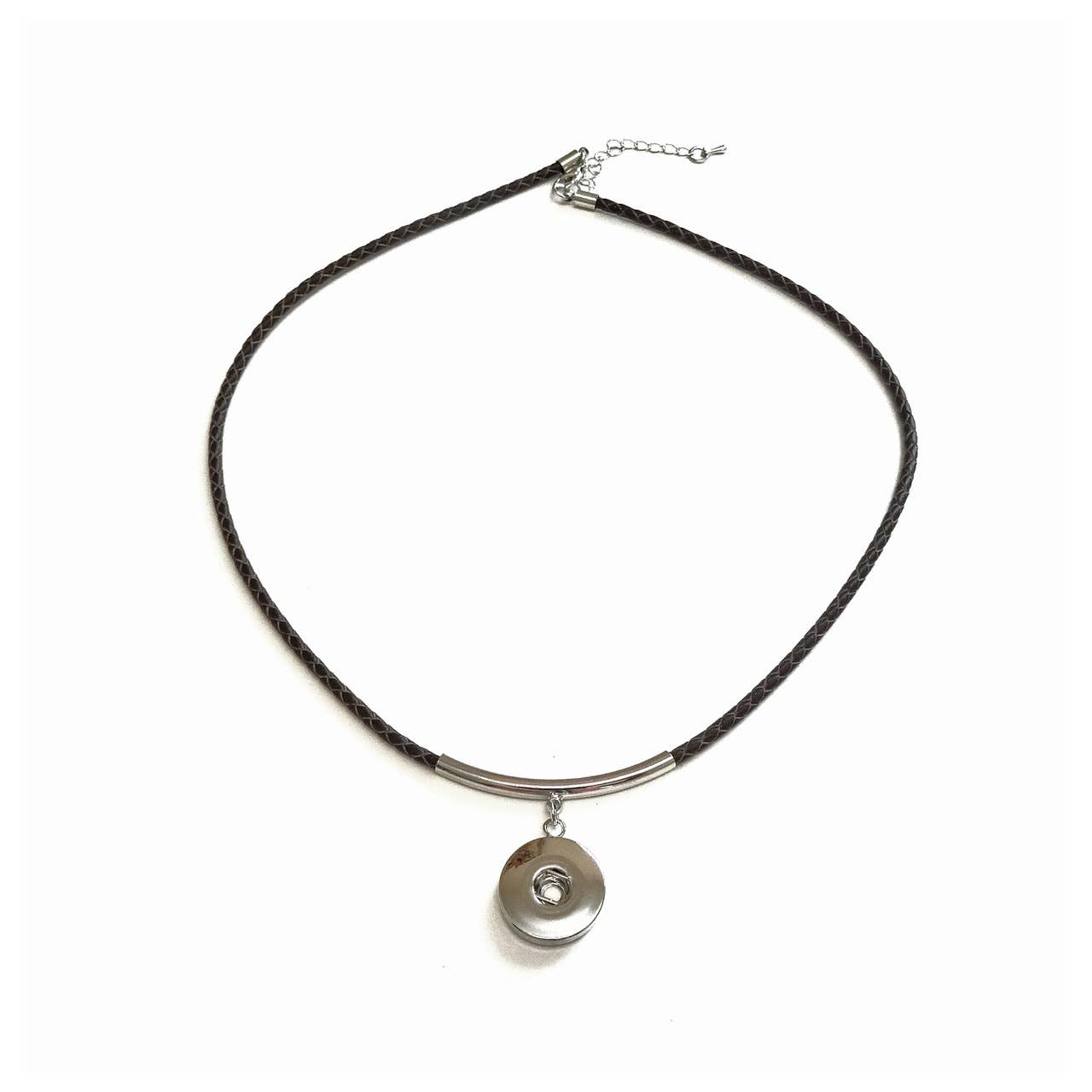 Braided Brown Leatherette Necklace | Trada Marketplace