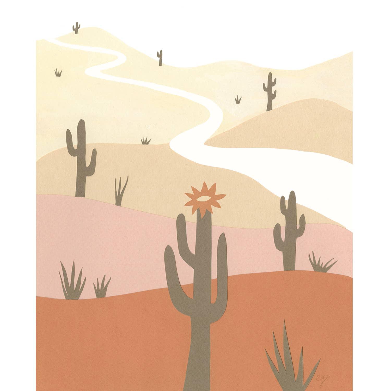 Saguaro Print   Trada Marketplace