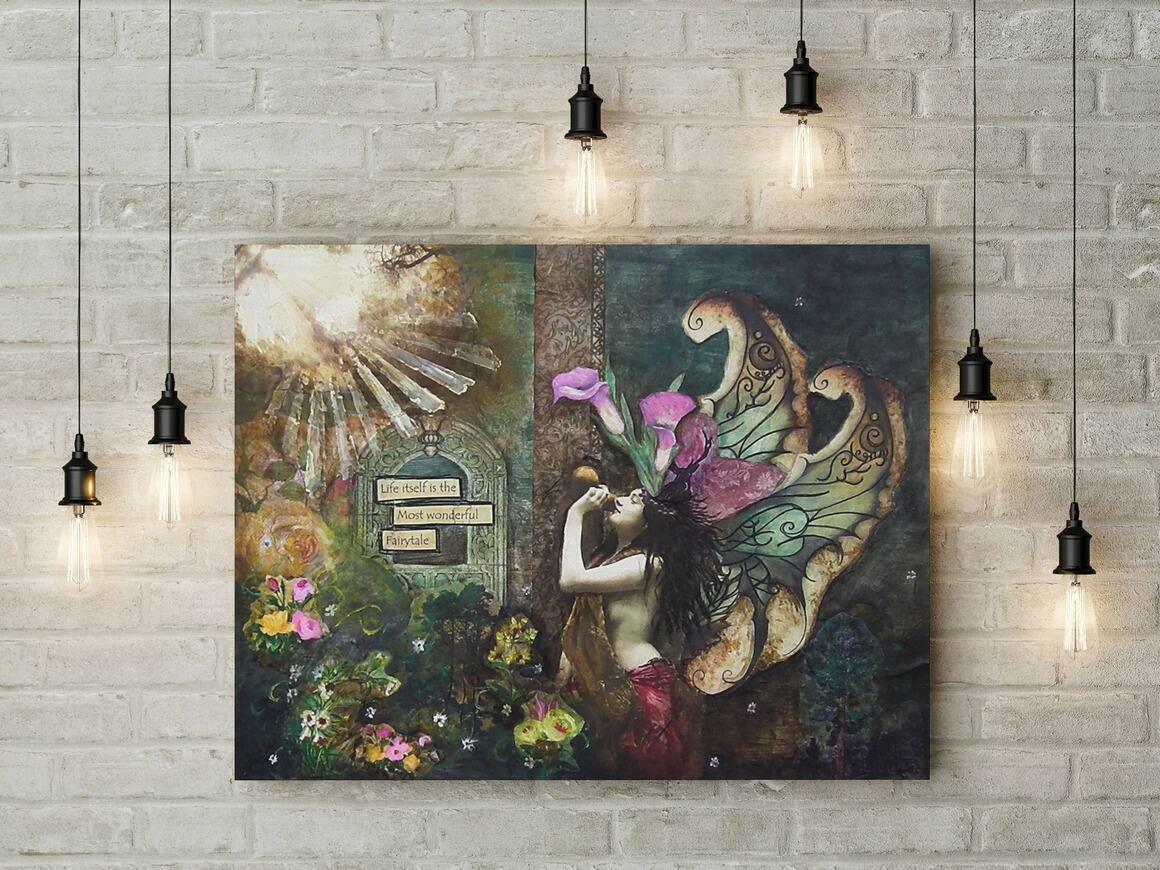 Fairy Canvas Wrap Print   Trada Marketplace