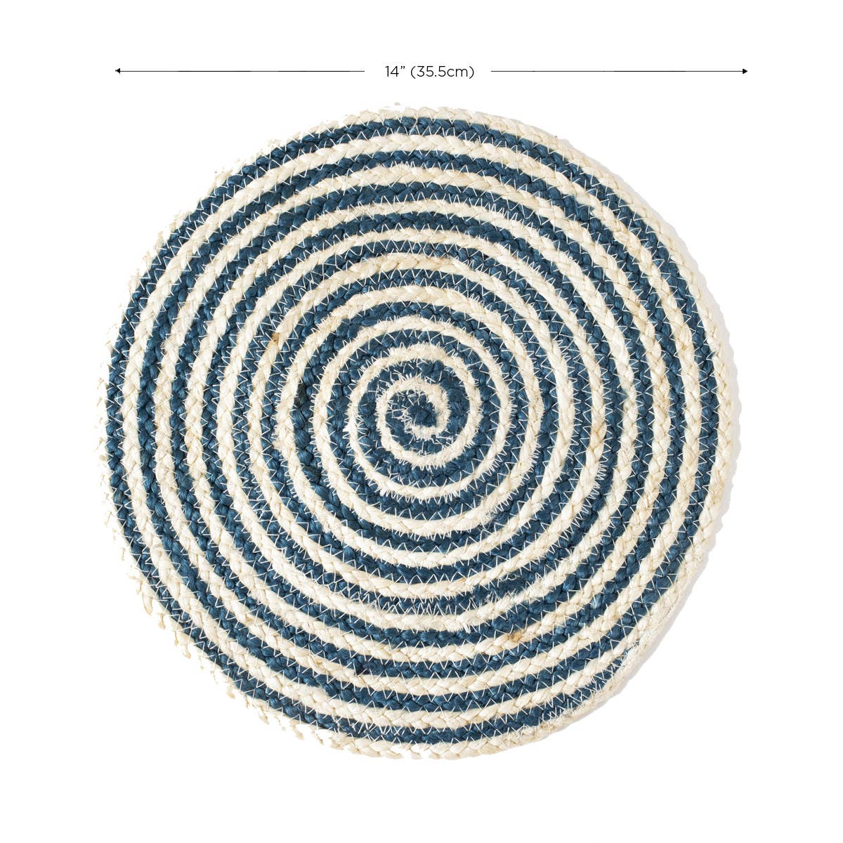 Kata Spiral Placemat - Blue (Set of 4) | Trada Marketplace