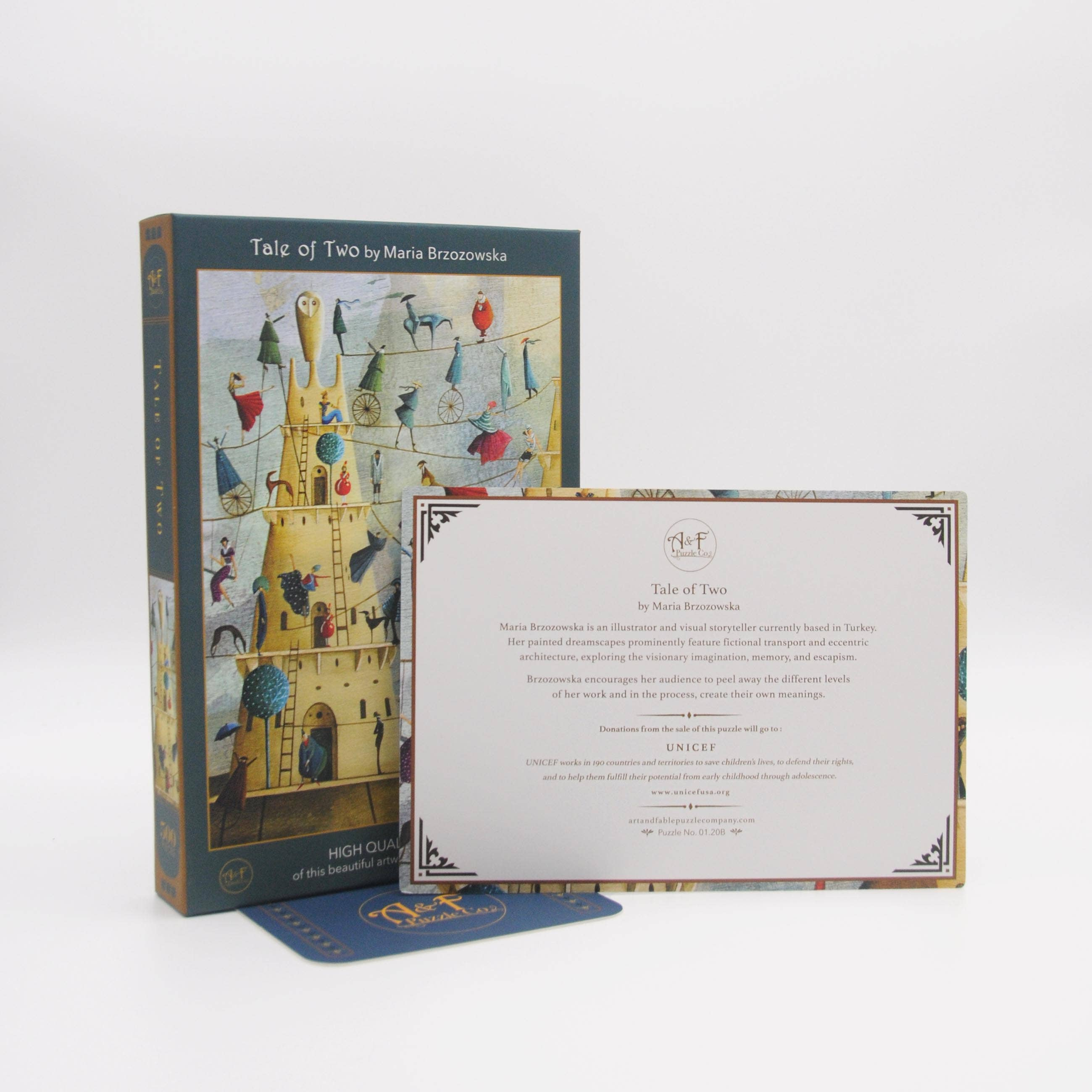 Tale of Two; 500-Piece Velvet-Touch Jigsaw Puzzle featuring the art of Maria Brzozowska | Trada Marketplace