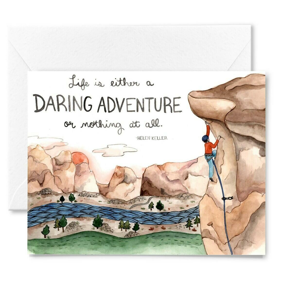 Daring Adventure Motivational Card | Trada Marketplace
