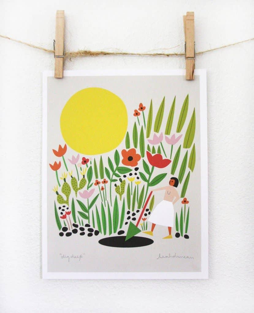 Dig Deep Art Print | Trada Marketplace