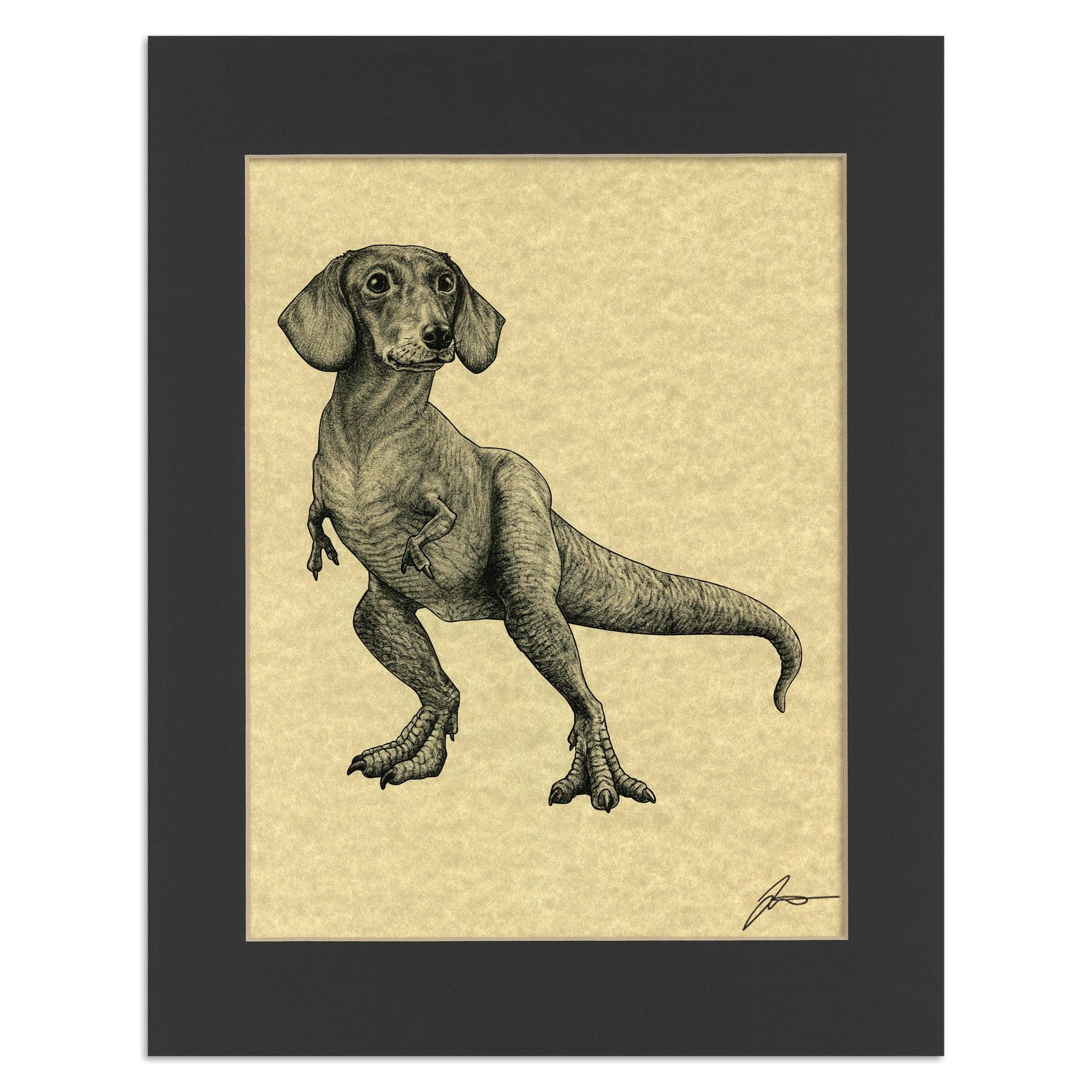 "Doxisaurus 11x14"" Parchment Print   Trada Marketplace"