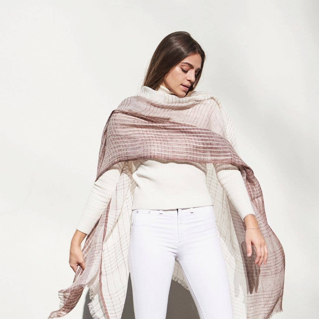 Auro White Linen Scarf | Trada Marketplace