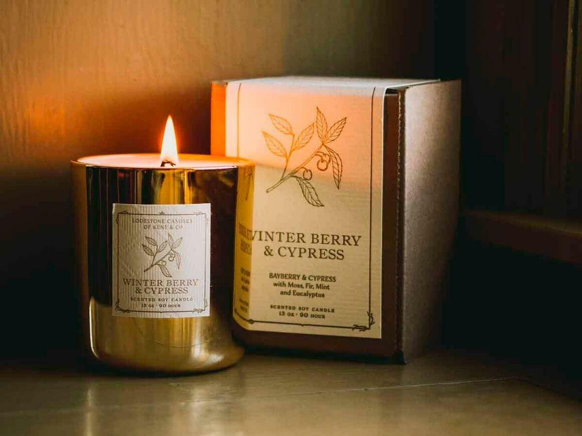 Winter Berry & Cypress I Soy Candle, 13 oz, 90 hour   Trada Marketplace