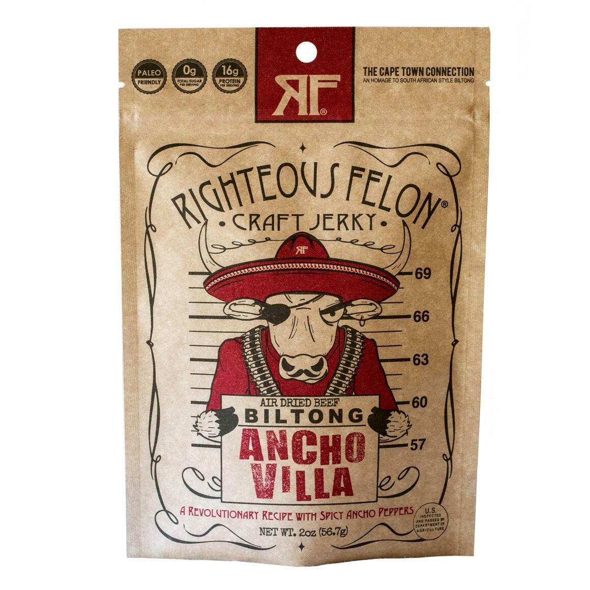 Ancho Villa Biltong 2oz (8ct) | Trada Marketplace