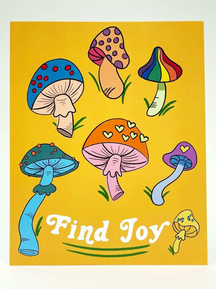 Find Joy (Mushrooms)   Art Print   Trada Marketplace