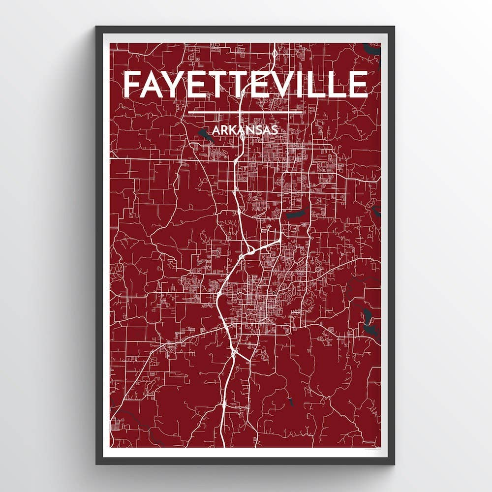 Fayetteville City Map | Trada Marketplace