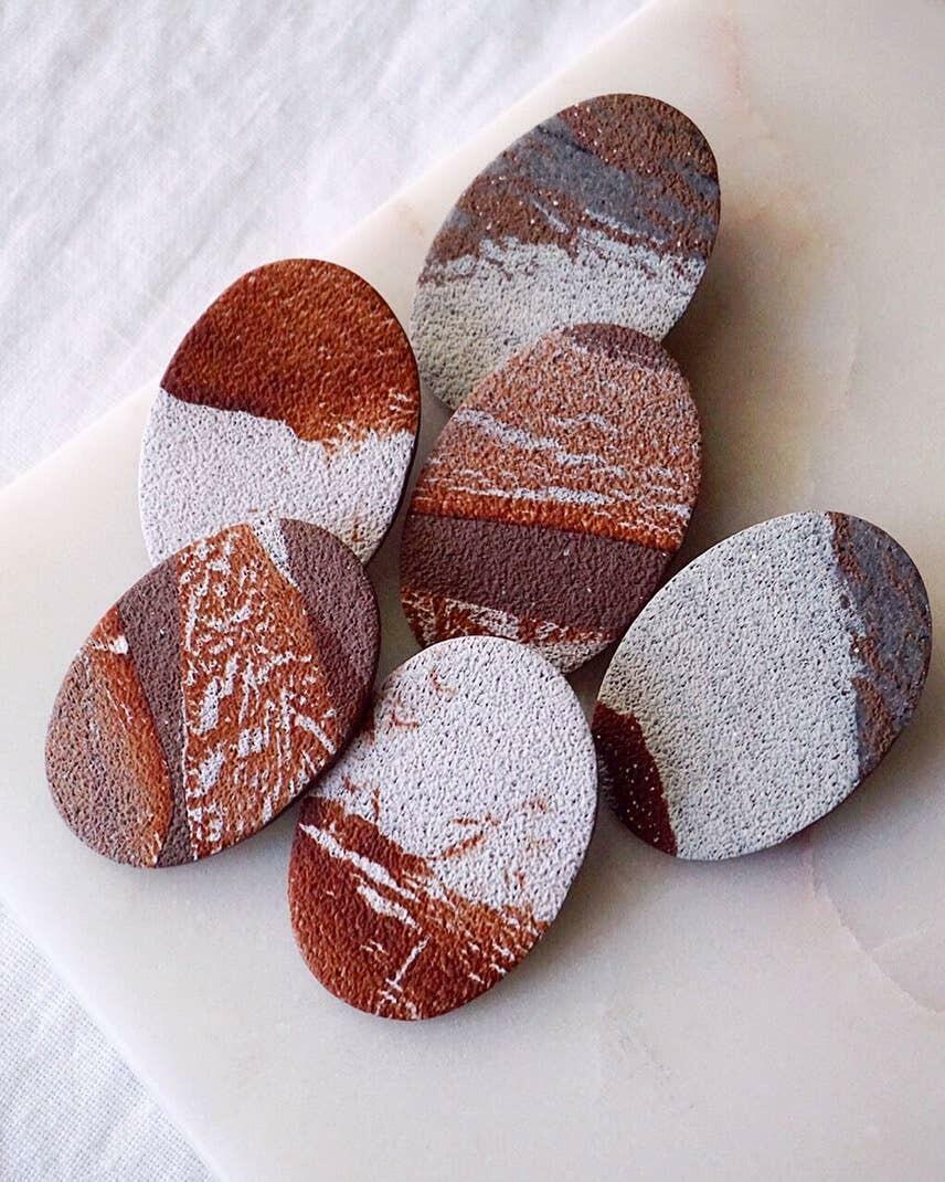 Brown Stone Studs | Trada Marketplace