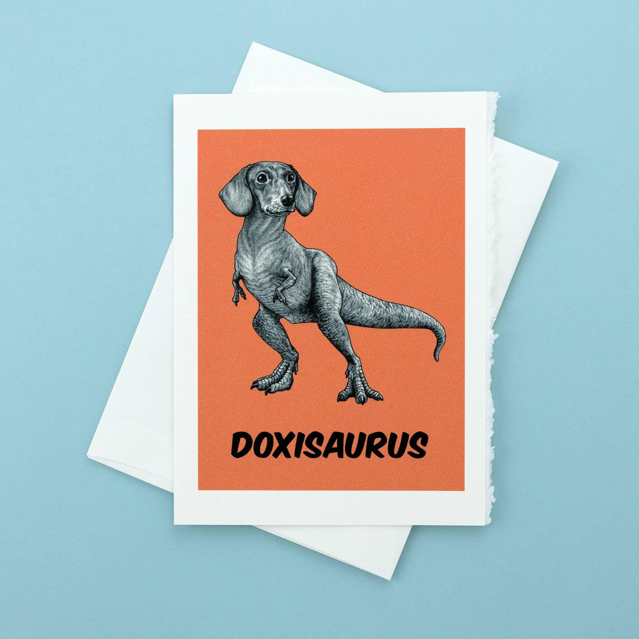"Doxisaurus 5x7"" Greeting Card   Trada Marketplace"