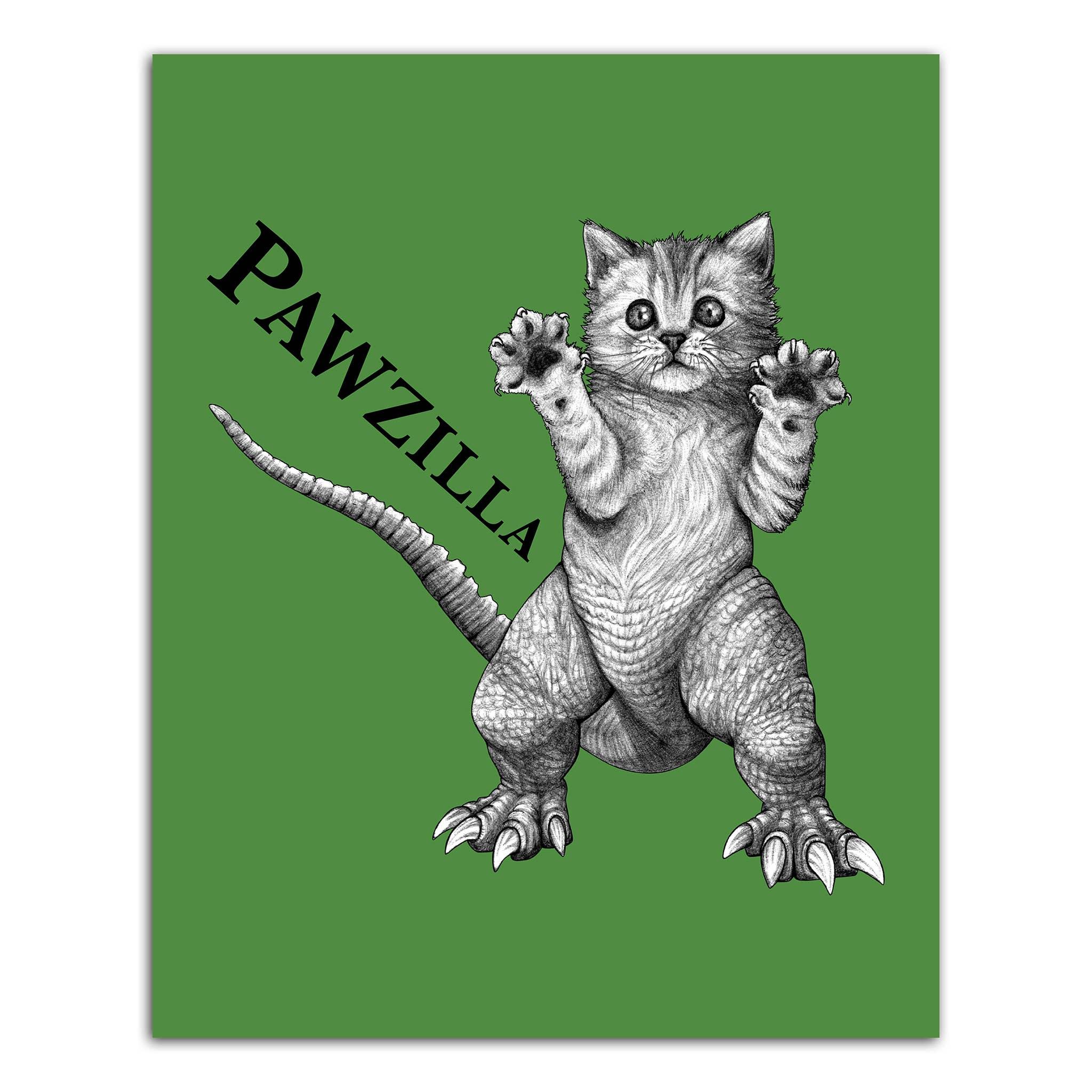 "Pawzilla 8x10"" Art Print   Trada Marketplace"