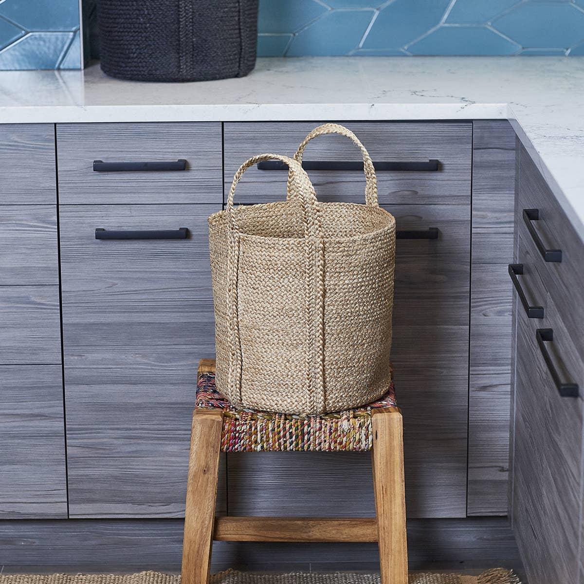 Kata Basket With Handle - Natural (Set of 2) | Trada Marketplace