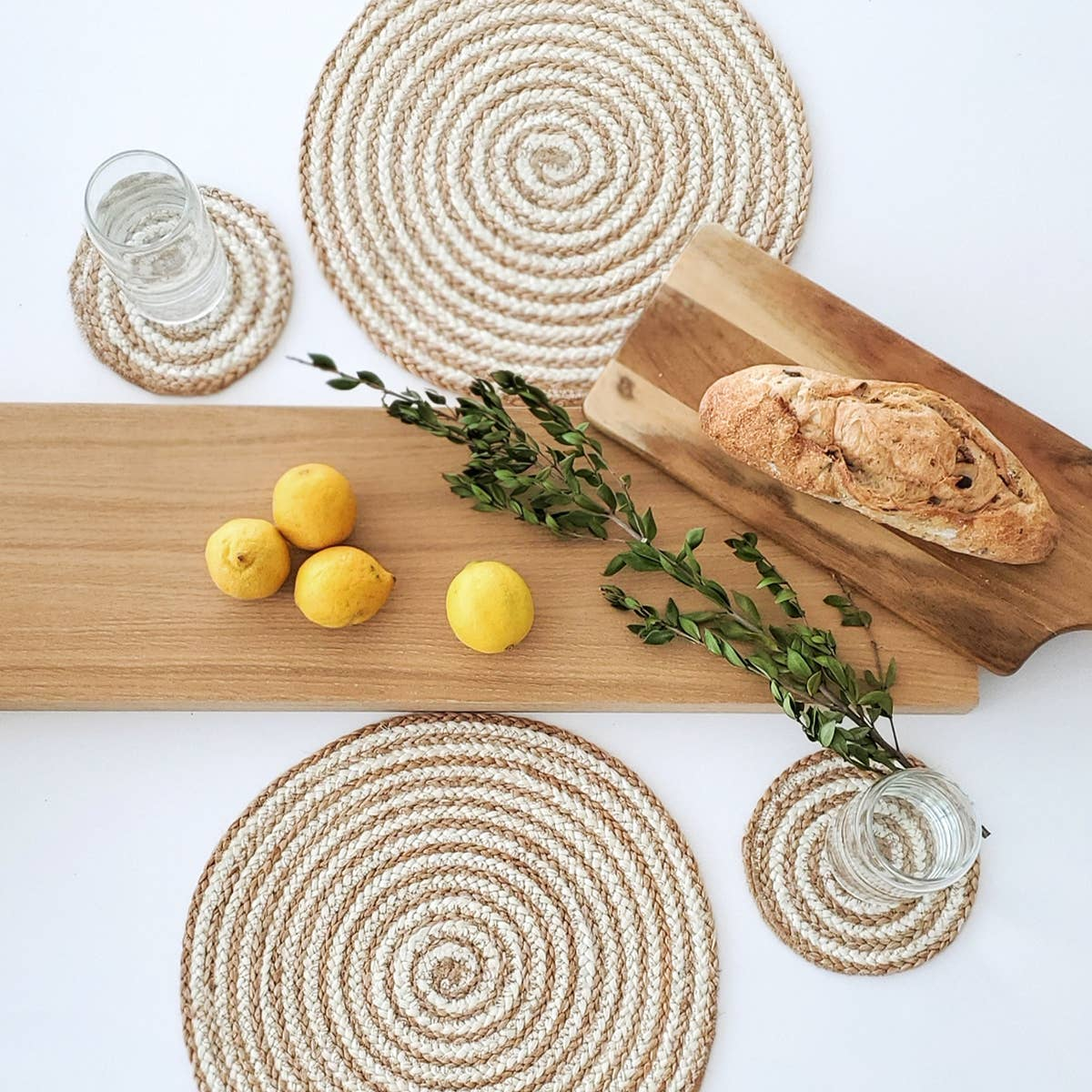 Kata Spiral Placemat - Natural (Set of 4) | Trada Marketplace