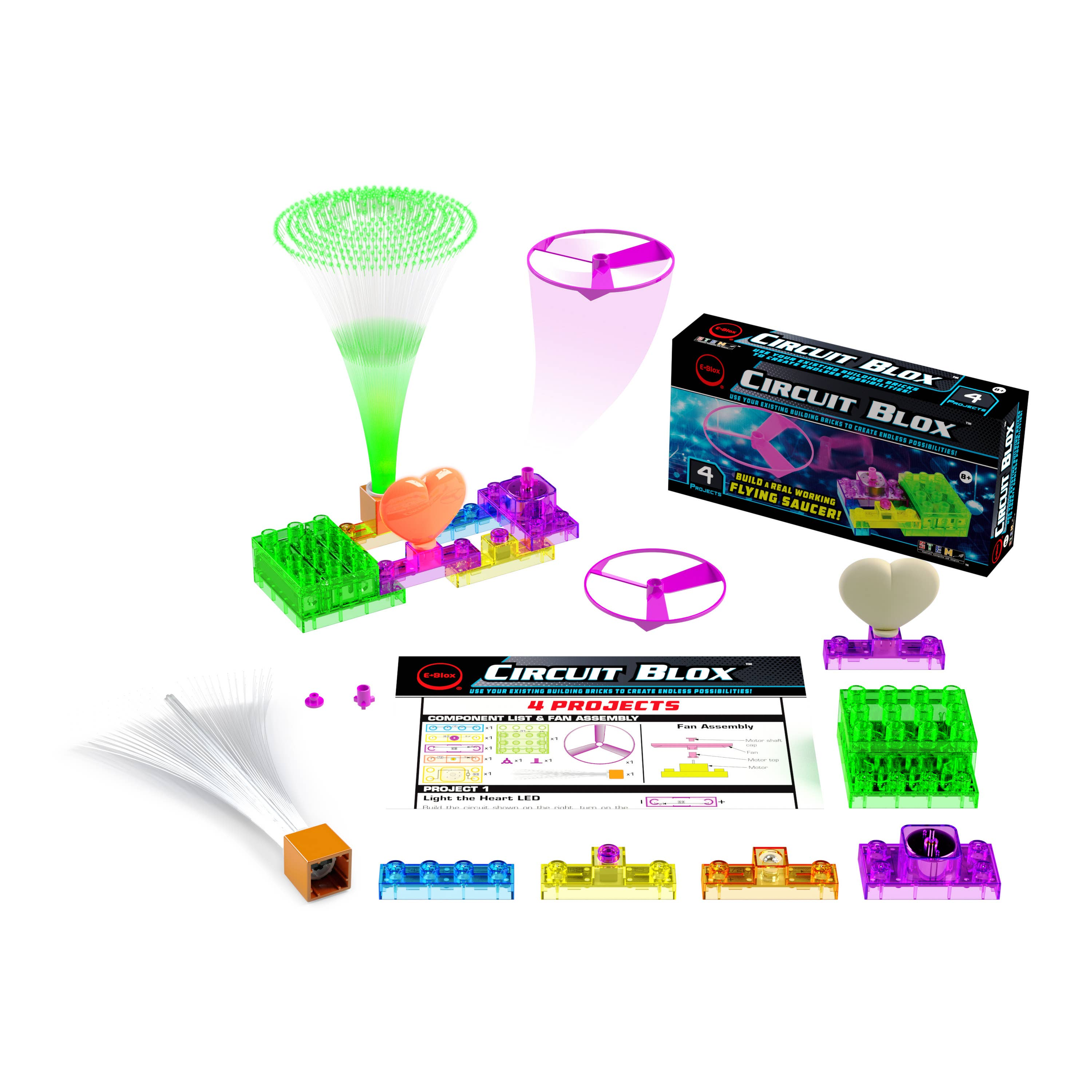 Circuit Blox 4 Projects - Build Your Own Flying Saucer Kit   Trada Marketplace