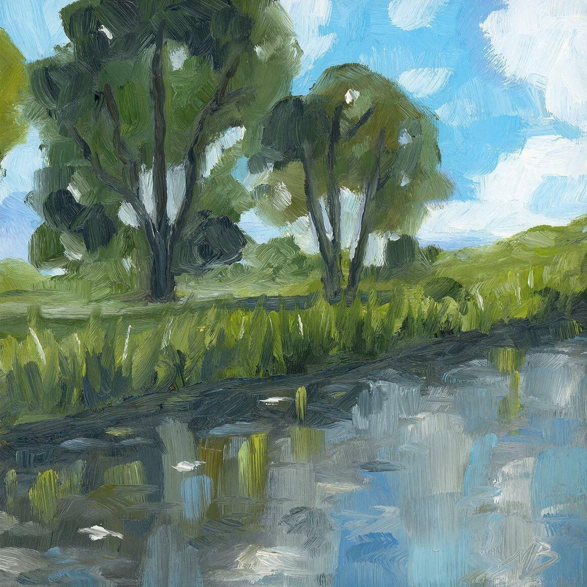 Still Water Square Canvas Print   Trada Marketplace
