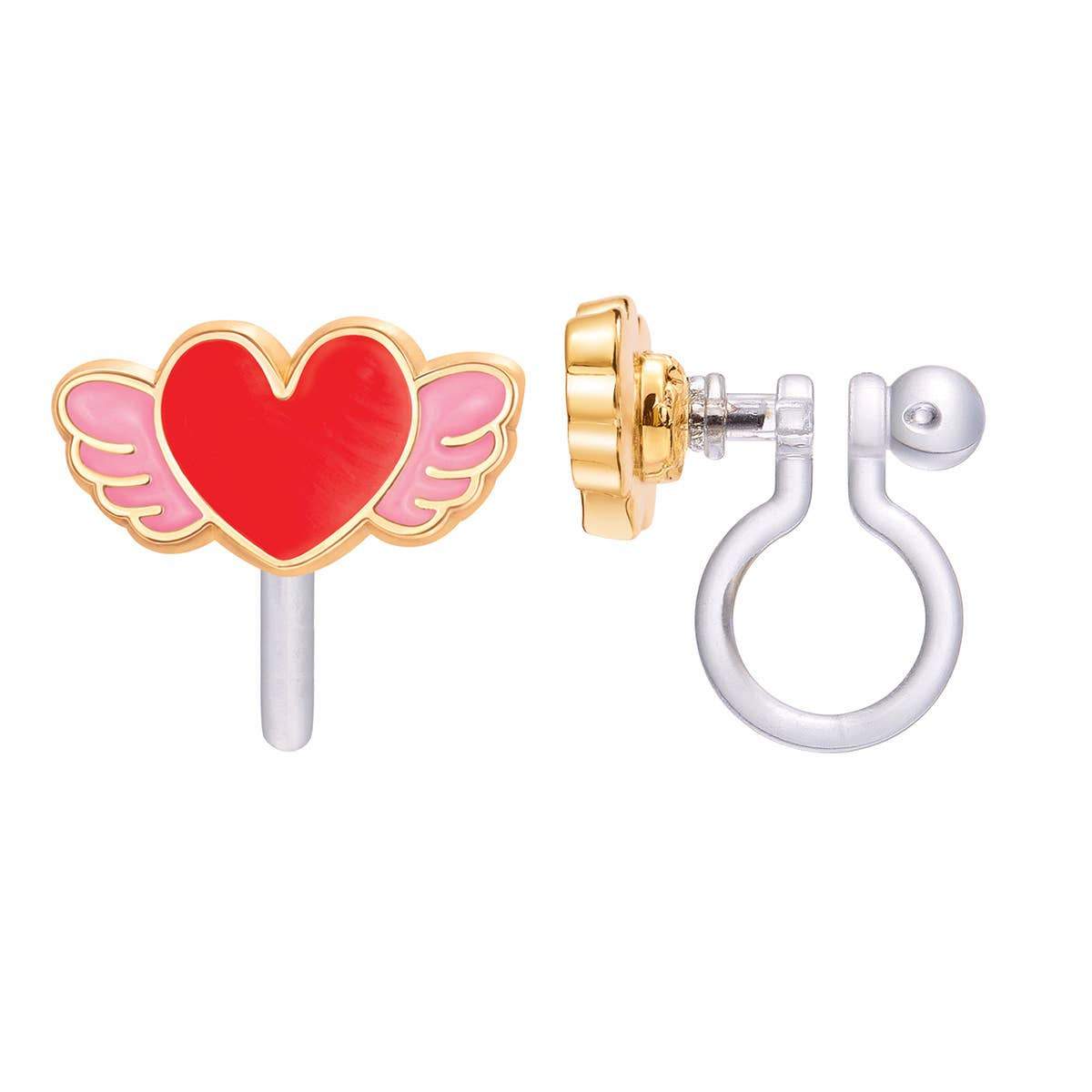 CLIP ON Cutie Earrings- Angel Heart   Trada Marketplace