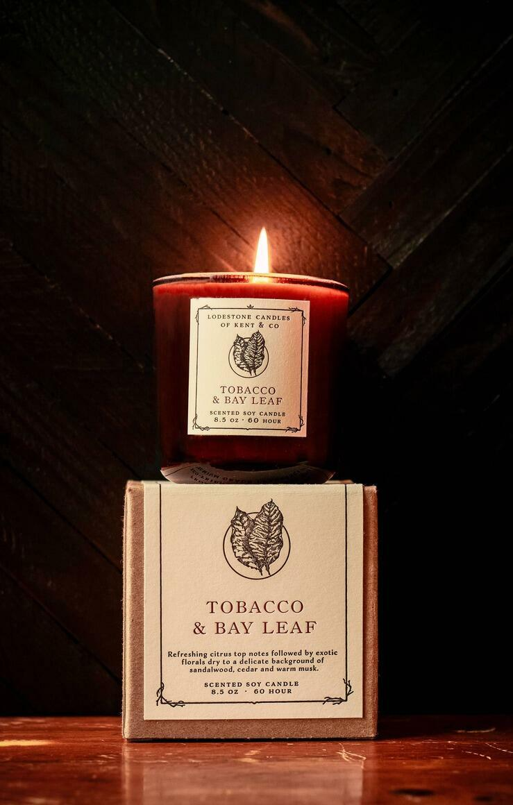 Tobacco and Bay Leaf Candle   Trada Marketplace