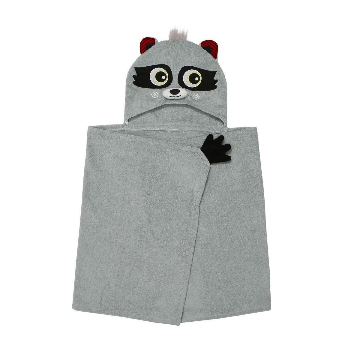 Kids Plus Terry Hooded Bath Towel Racoon 2Y+ | Trada Marketplace