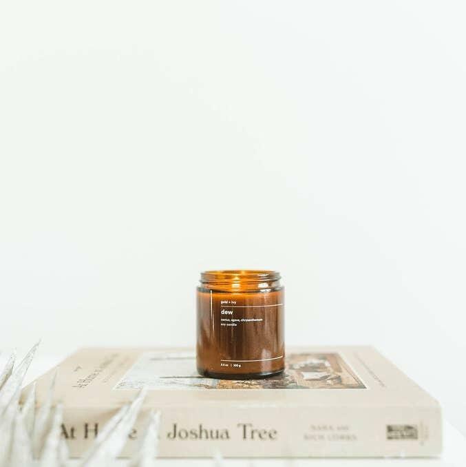 dew 3.5 oz. soy candle - mini | Trada Marketplace