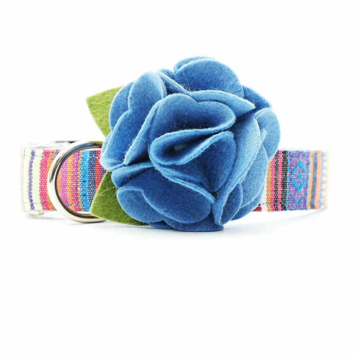 Dog Collar Hydrangea Flower - Columbia Blue   Trada Marketplace