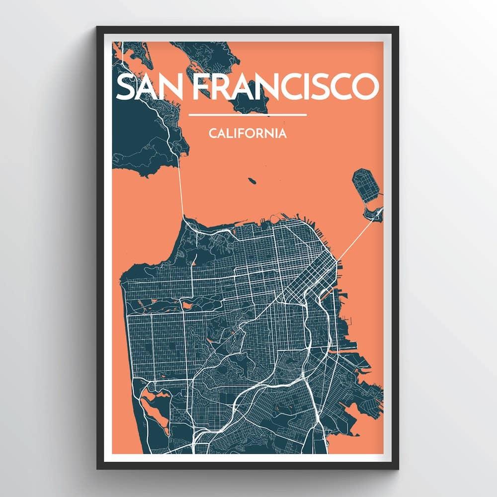 San Francisco City Map | Trada Marketplace