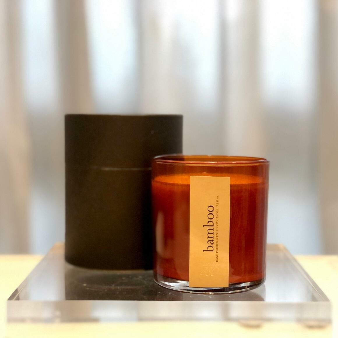 Minimalist Scented Candles - Amber Glass / Gift Box | Trada Marketplace