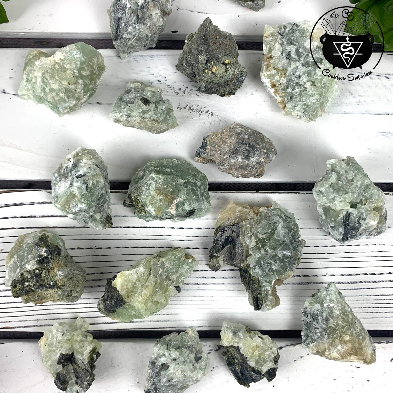 Prehnite with Epidote Raw Stones | Trada Marketplace