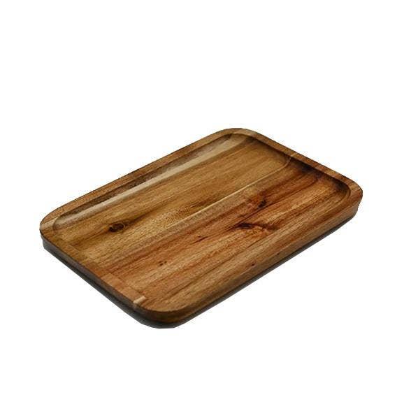 "10"" x 7"" Acacia Serving Rectangle Tray / Dish   Trada Marketplace"