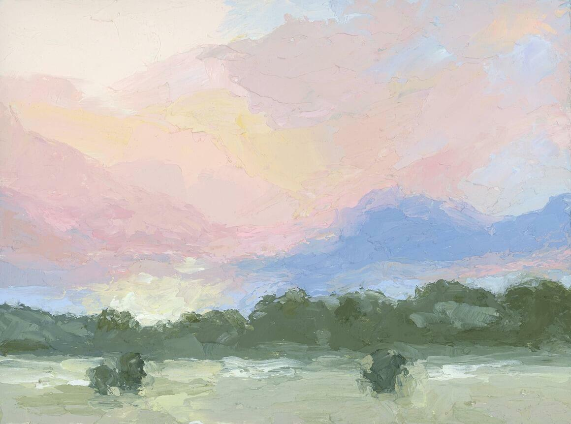 First Light Horizontal Canvas Print   Trada Marketplace