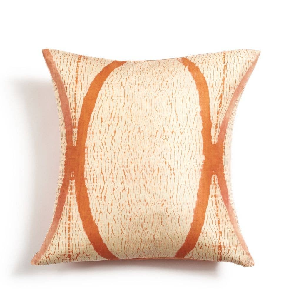 Arc Coral Silk Pillow | Trada Marketplace