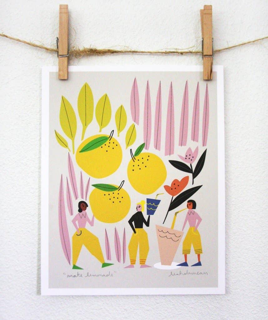 Make Lemonade Art Print | Trada Marketplace