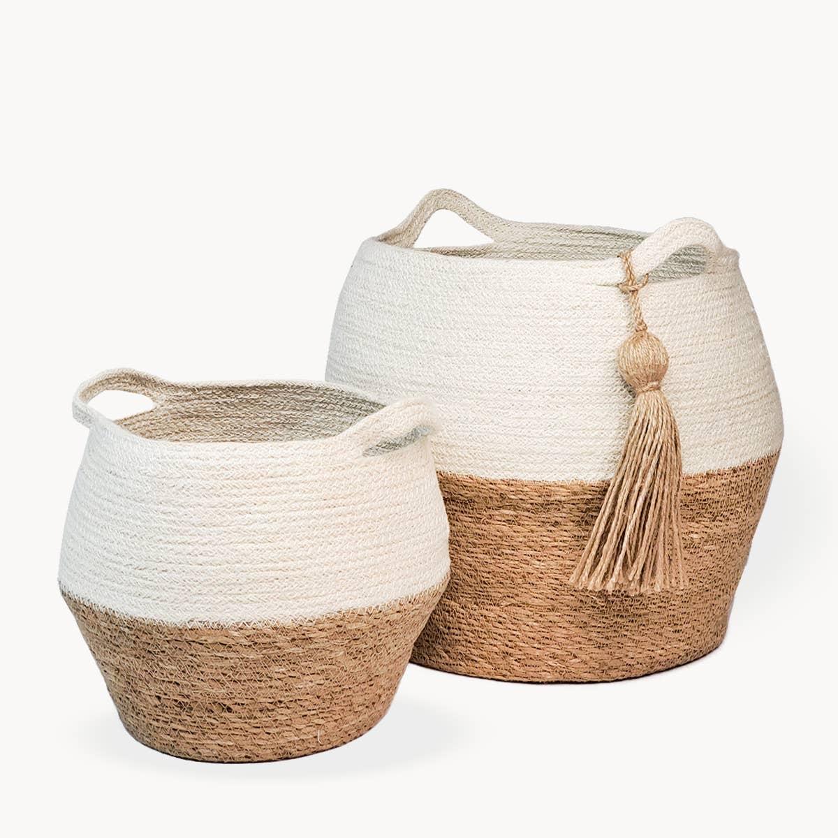 Agora Jar Basket - Natural (Set of 2) | Trada Marketplace