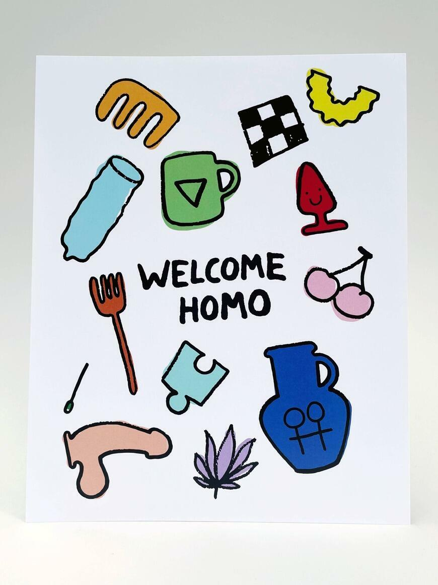 Welcome Homo   Art Print   Trada Marketplace
