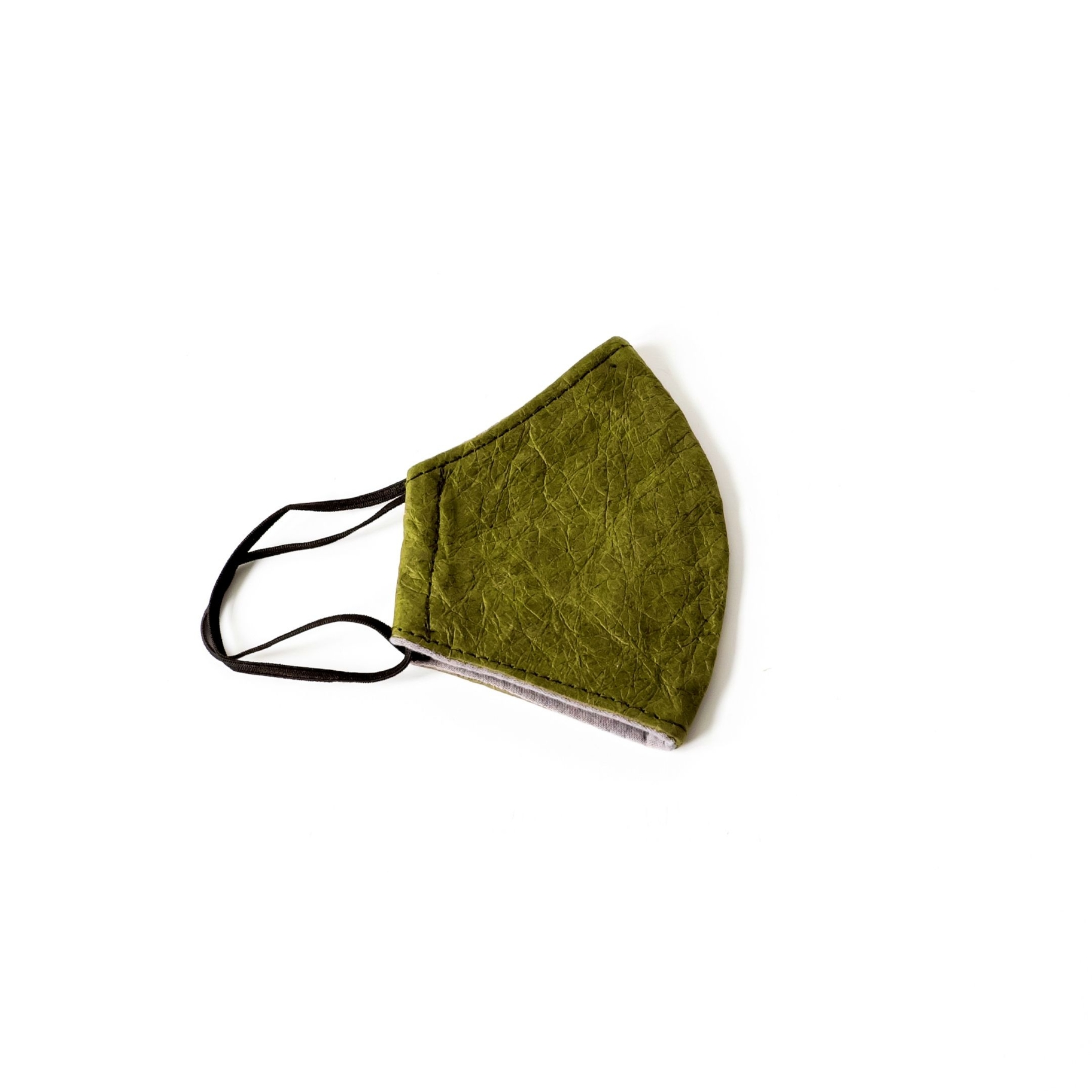 Face Mask - Paper Leather, Olive | Trada Marketplace