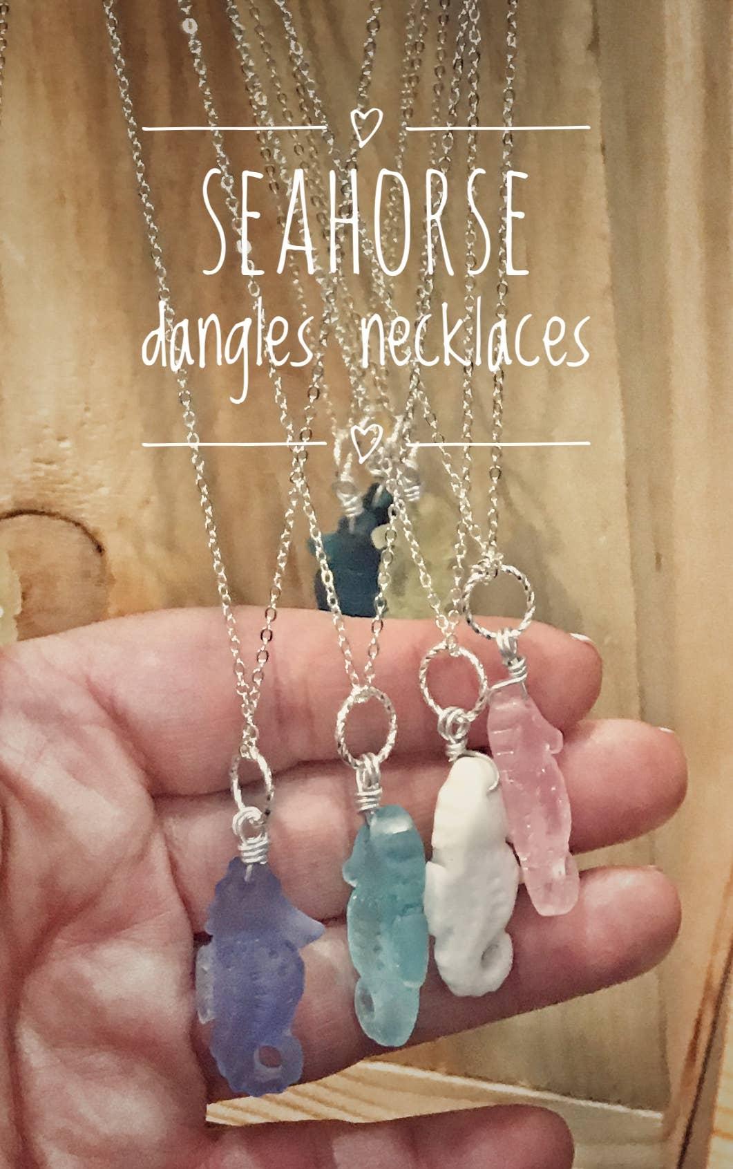 Seahorse Sea glass necklaces dozen | Trada Marketplace