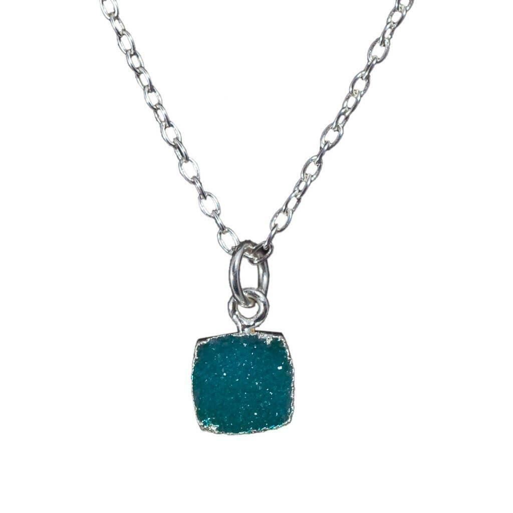 20% OFF Chloe Aqua Druzy Sterling Necklace   Trada Marketplace