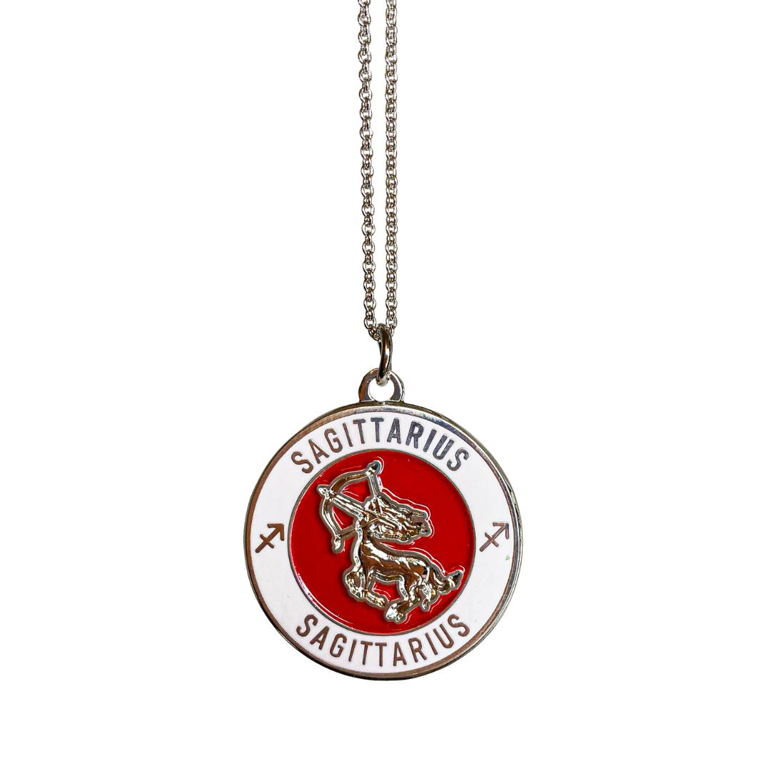 Sagittarius Enamel Zodiac Pendant   Trada Marketplace