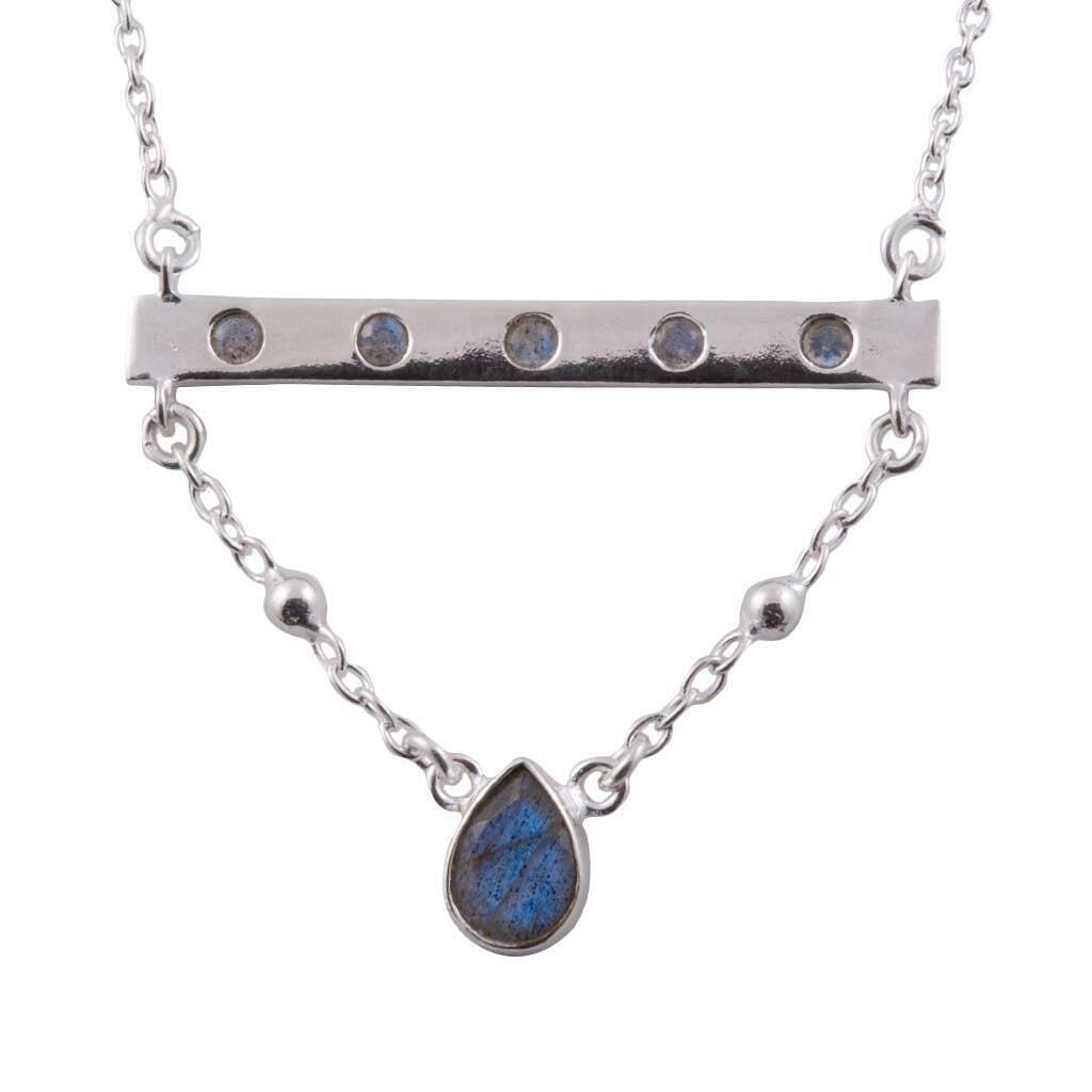 20% OFF Bridged Labradorite Sterling Bar Necklace   Trada Marketplace