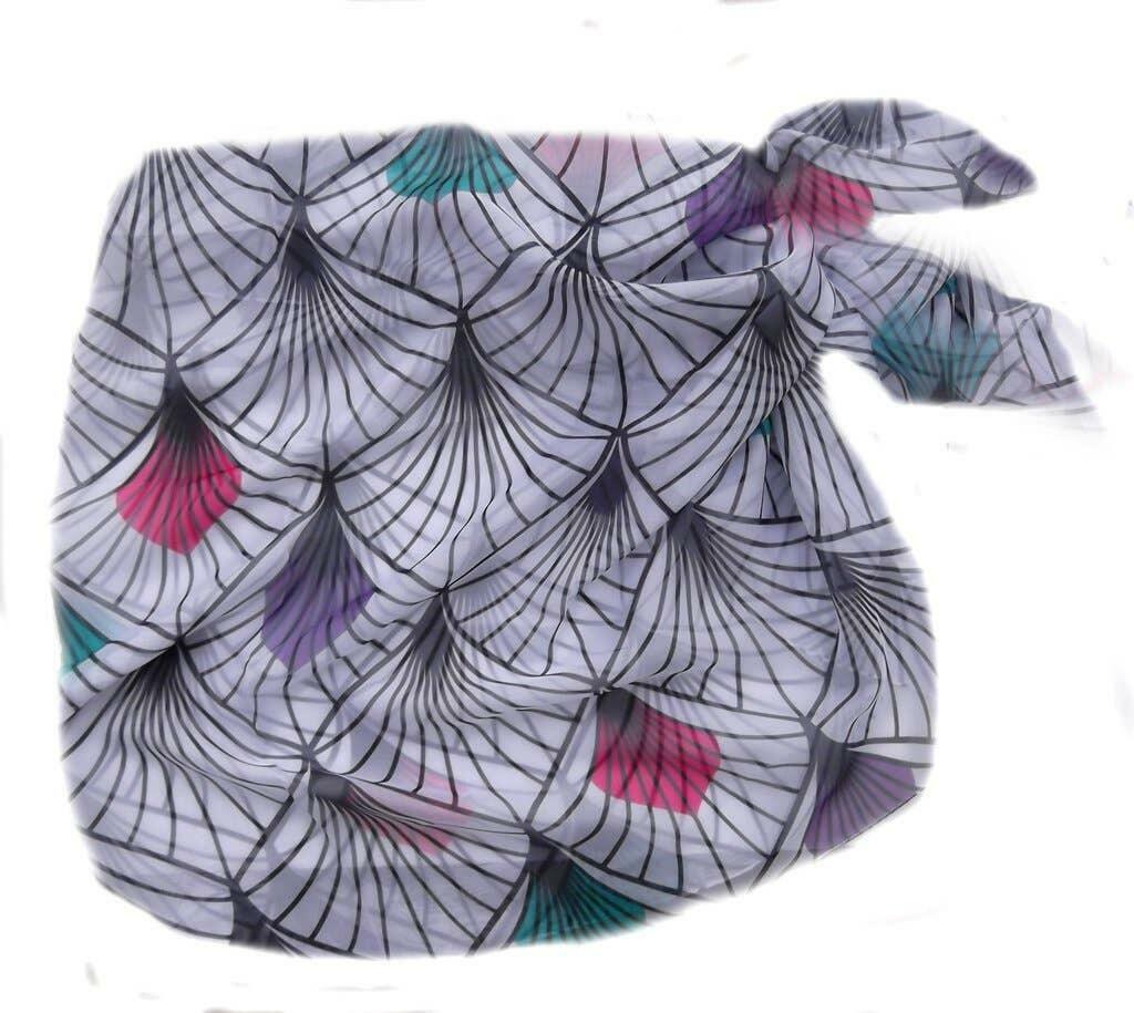 Feather Print Chiffon Beach Wrap/Scarf | Trada Marketplace