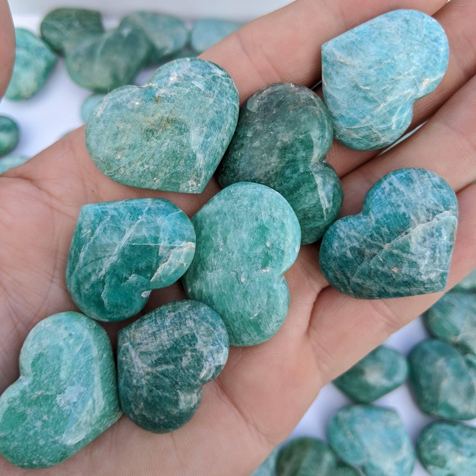 Amazonite Crystal Pocket Hearts   Trada Marketplace