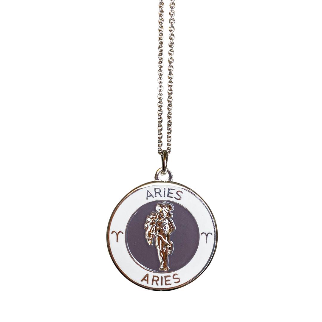 Aries Enamel Zodiac Pendant   Trada Marketplace