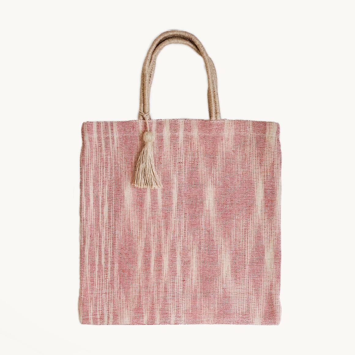 Nadi Jute Tote Bag - Red | Trada Marketplace