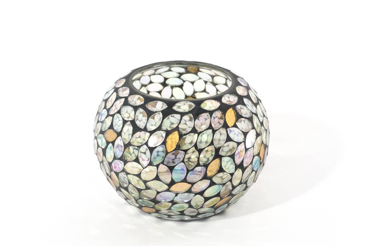 Petal Mosaic Glass Candle Votive + Vase   Trada Marketplace