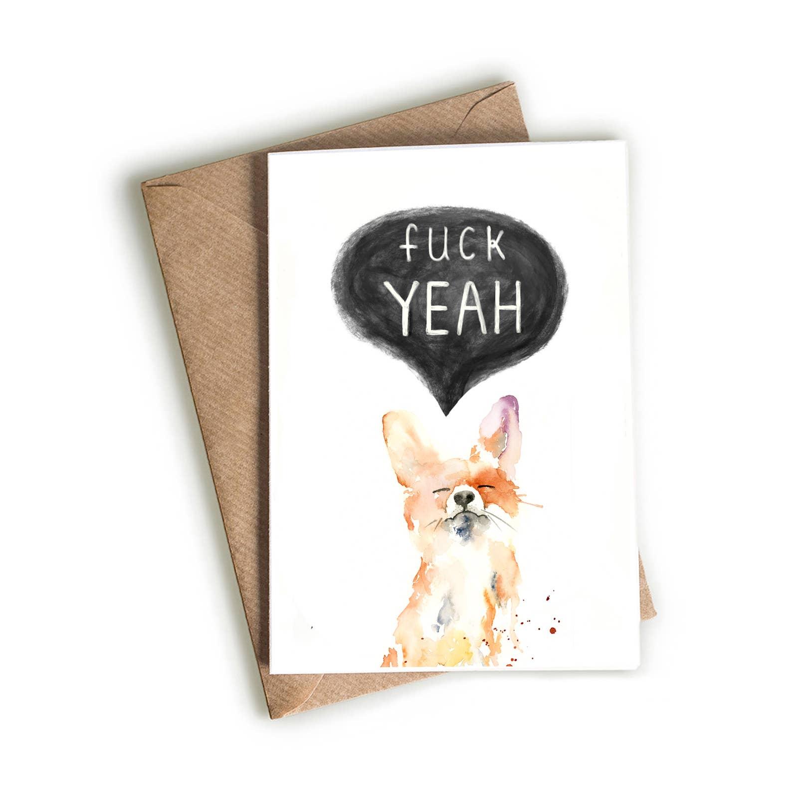 F Yeah Fox Card | Trada Marketplace