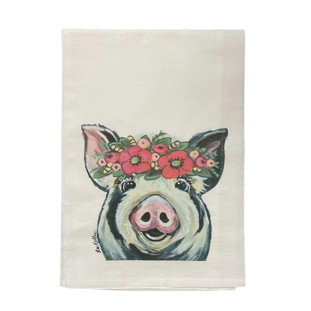 Pig Flour Sack Towel, Farm Animal Tea Towel, Pig Tea Towel   Trada Marketplace