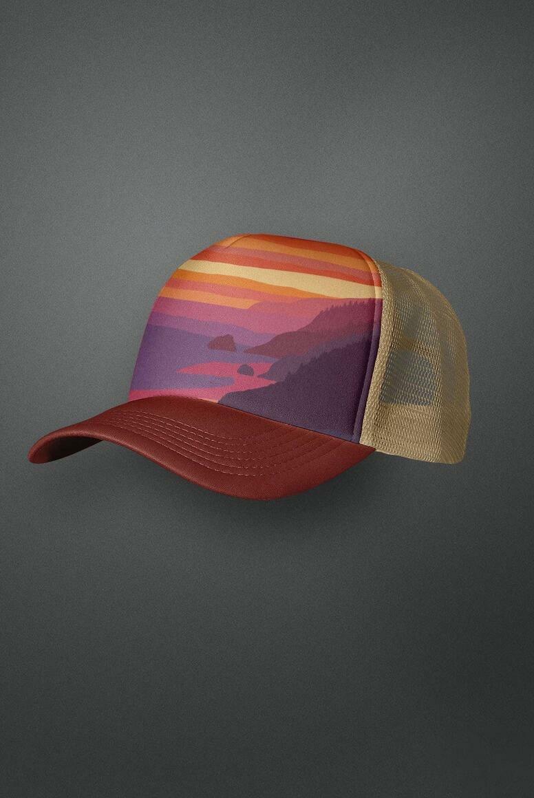 Big Sur Sunset Trucker Hat | Trada Marketplace